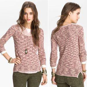 Free People Boston Melange pink marled pullover M